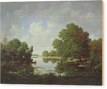 Early Summer Afternoon Wood Print by Pierre Etienne Theodore Rousseau