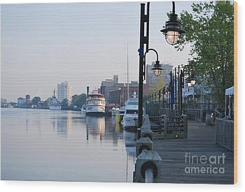 Wood Print featuring the photograph Early Morning Walk Along The River by Bob Sample