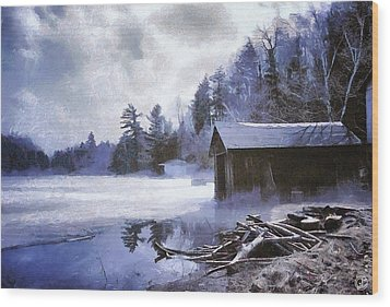 Early Winter Morning Wood Print by Gun Legler