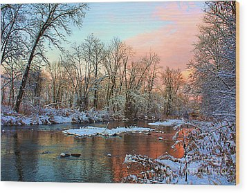 Early Winter Snow Wood Print by Mike Griffiths