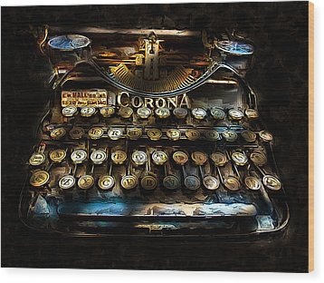 Early Word Processor Wood Print by Cary Shapiro