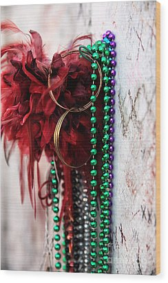 Earrings For Marie Wood Print by John Rizzuto