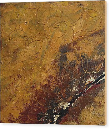 Earth Abstract Two Wood Print by Lance Headlee