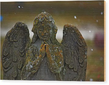 Earth Angel Wood Print by Rowana Ray