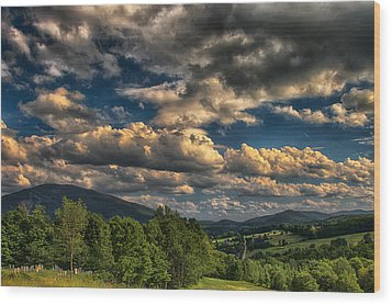 Earth Bending At Mt. Ascutney Wood Print by Nathan Larson