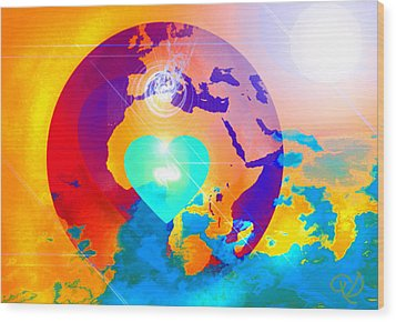 Earth Changes Wood Print by Ute Posegga-Rudel