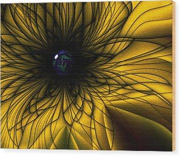 Earth Flower Wood Print
