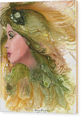 Earth Maiden Wood Print by Sherry Shipley
