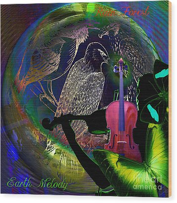 Earth Melody Wood Print by Joseph Mosley