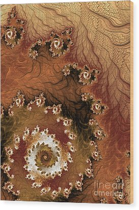 Earth Rhythms Wood Print by Heidi Smith