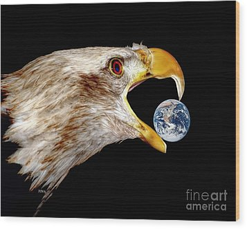 Earth Shattering Influence Wood Print by Patrick Witz