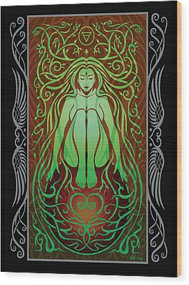 Earth Spirit V.2 Wood Print by Cristina McAllister