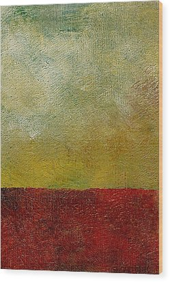 Earth Study One Wood Print by Michelle Calkins