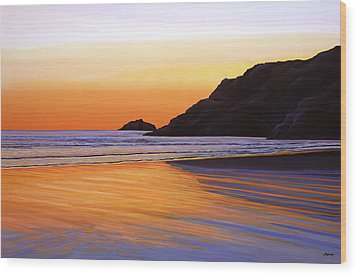 Earth Sunrise Sea Wood Print by Paul Meijering