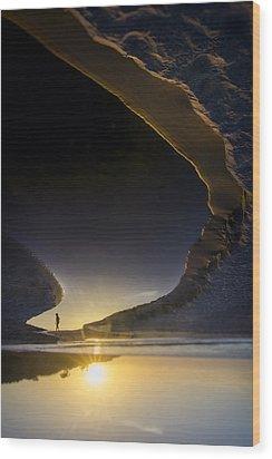 Earth Walker Wood Print by Sean Foster