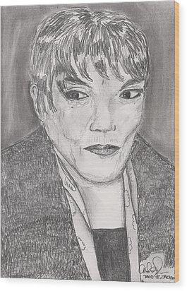 Wood Print featuring the drawing Eartha Kitt by David Jackson