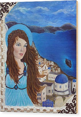 Earthangel Athena Wood Print by The Art With A Heart By Charlotte Phillips