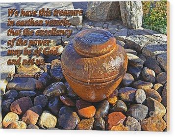 Earthen Vessels Wood Print by Larry Bishop