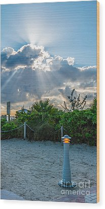 Earthly Light And Heavenly Light  Wood Print by Ian Monk