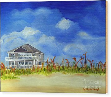 Wood Print featuring the painting East 2nd Street by Shelia Kempf