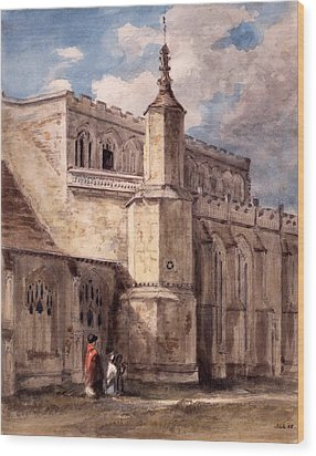 East Bergholt Church, Northside Wood Print by John Constable