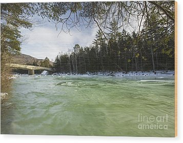 East Branch Of The Pemigewasset River - Lincoln New Hampshire Usa Wood Print by Erin Paul Donovan