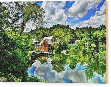 East Calais Mill Pond Wood Print