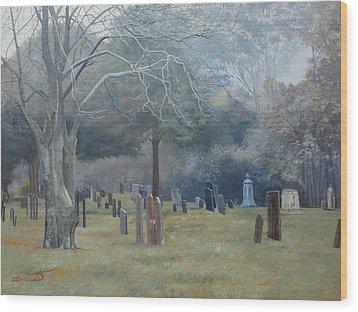 East End Cemetery Amagansett Wood Print