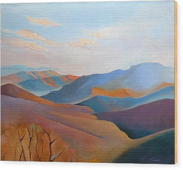 East Fall Blue Ridge No.3 Wood Print