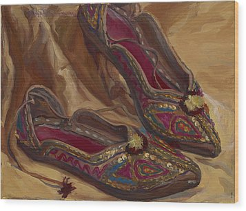 East Indian Shoes Wood Print