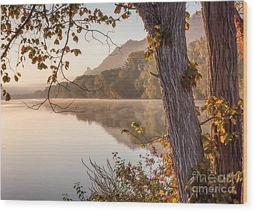 Wood Print featuring the photograph East Lake Morning by Kari Yearous