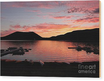 East Lake Sunset Wood Print