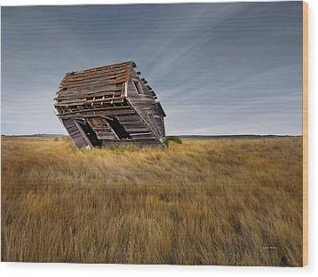 East Montana Texture Wood Print by Leland D Howard