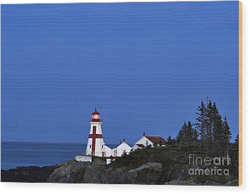 East Quoddy Lighthouse - D002160 Wood Print by Daniel Dempster
