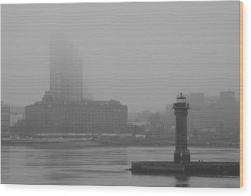 Wood Print featuring the photograph East River Nyc by Steven Macanka