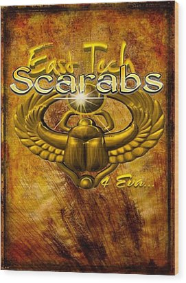 East Tech Scarabs4eva Wood Print by Romaine Head