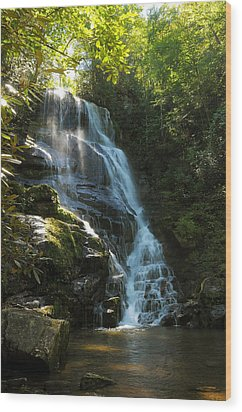 Wood Print featuring the photograph Eastatoe Falls North Carolina by Charles Beeler