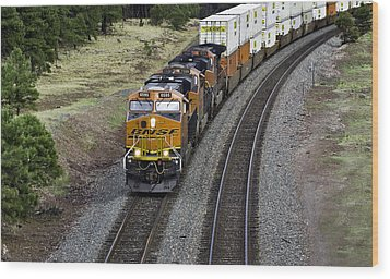 Eastbound Freight Wood Print