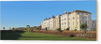 Eastbourne King Edwards Parade Panorama Wood Print by Art Photography