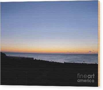 Eastbourne Sunset Wood Print by Art Photography