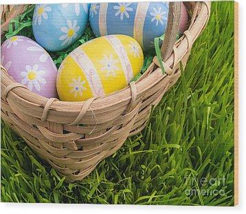 Easter Basket Wood Print by Edward Fielding