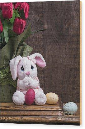 Easter Bunny Wood Print by Edward Fielding