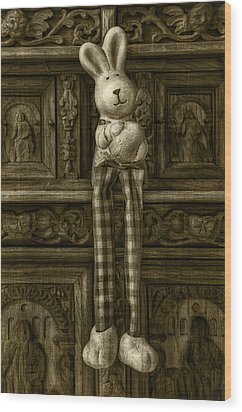 Easter Bunny From The Past Wood Print by Gynt