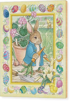 Easter Bunny Wood Print