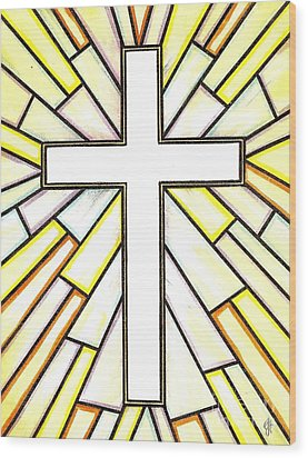 Easter Cross 3 Wood Print by Jim Harris