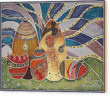Easter Eggstravaganza Wood Print by Jolanta Anna Karolska