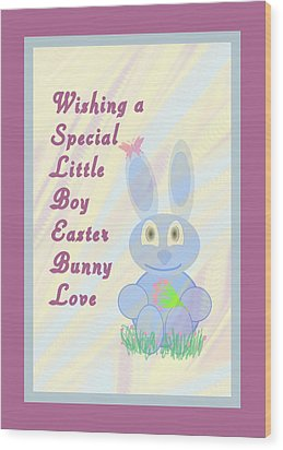 Easter For Small Boy Wood Print by Rosalie Scanlon