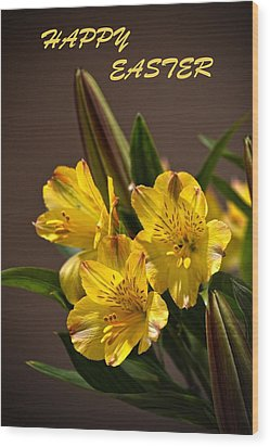 Easter Lilies Wood Print by Sandi OReilly