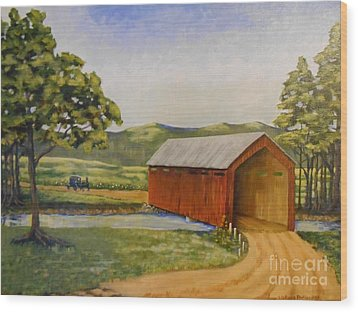 Eastern Covered Bridge Wood Print