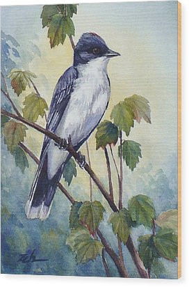 Eastern Kingbird Wood Print